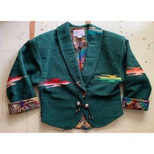 VTG Sage in Bloom southwestern reversible jacket